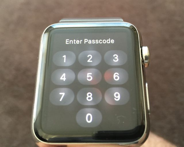 how to lock apple watch while on wrist