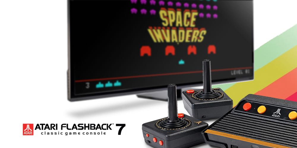 Play classic games like space invaders frogger and pong - Atari flashback 3 classic game console ...